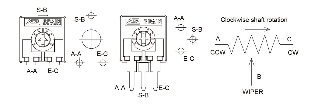 Potentiometer configuration