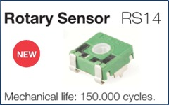 New rotary sensor for 150.000 cycles, RS14