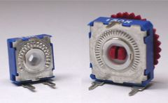 Potentiometers in 9 and 14mm with up to 38 detents