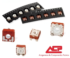 SMD potentiometers in ACP's full product range 6, 9 and 14mm