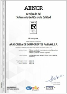 Certificado del SGC AENOR - 2021 (09-02-2024)